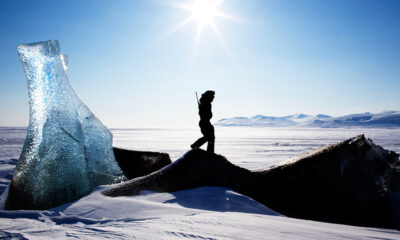Hiking on Svalbard, Norway