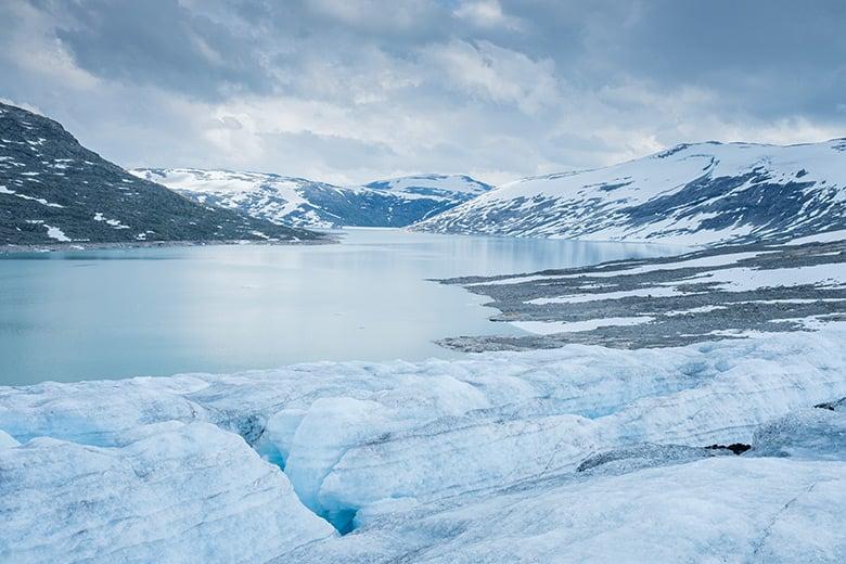 Jostedalsbreen glacier in Norway