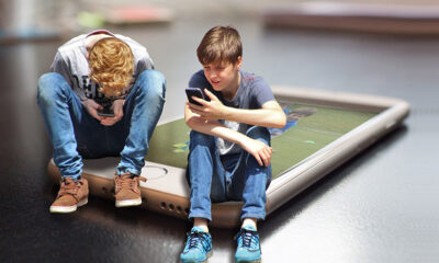 Kids on smartphones in Norway