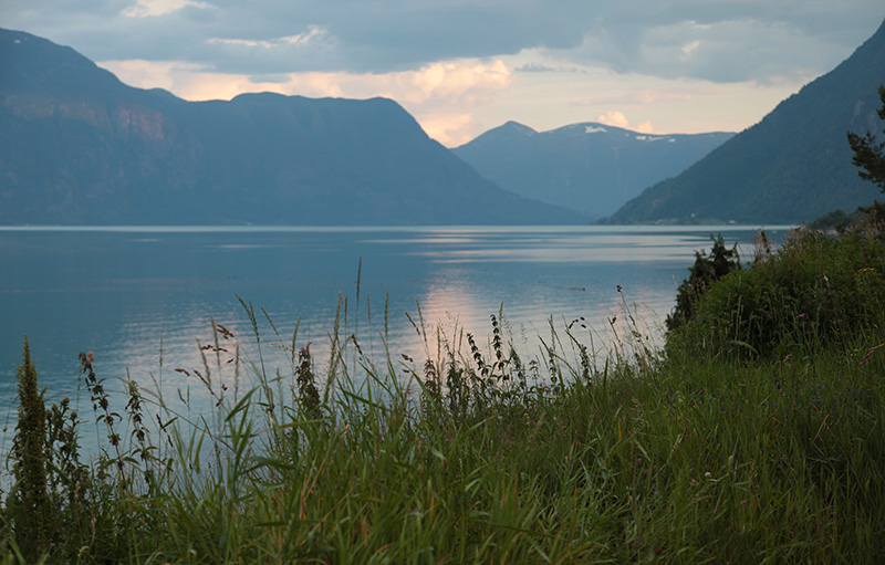 The Sognefjord at sunset