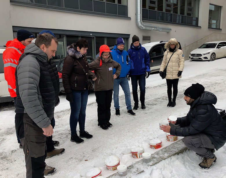 Training session on road salt