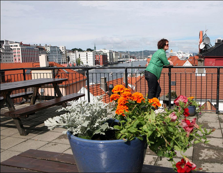 YMCA rooftop terrace in Bergen, Norway
