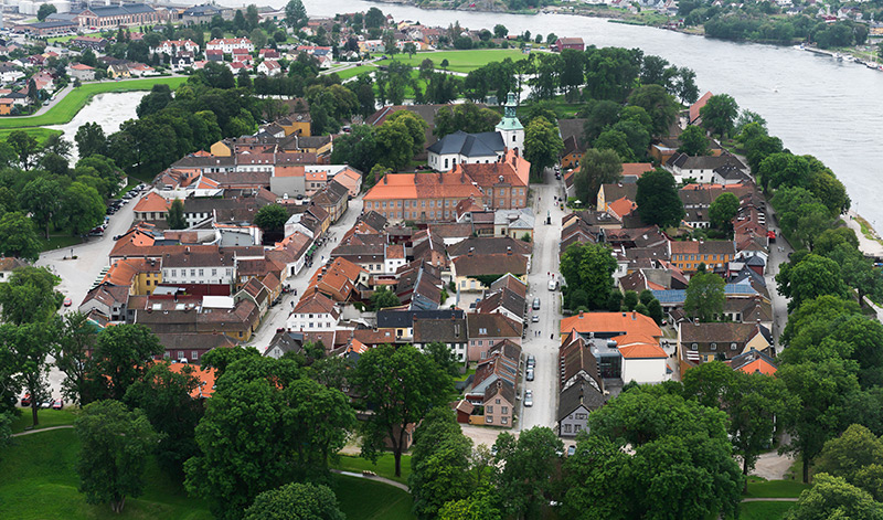 Fredrikstad old city from above