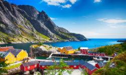 Beautiful Nusfjord in Norway's Lofoten Islands