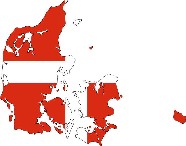 Map of the Kingdom of Denmark