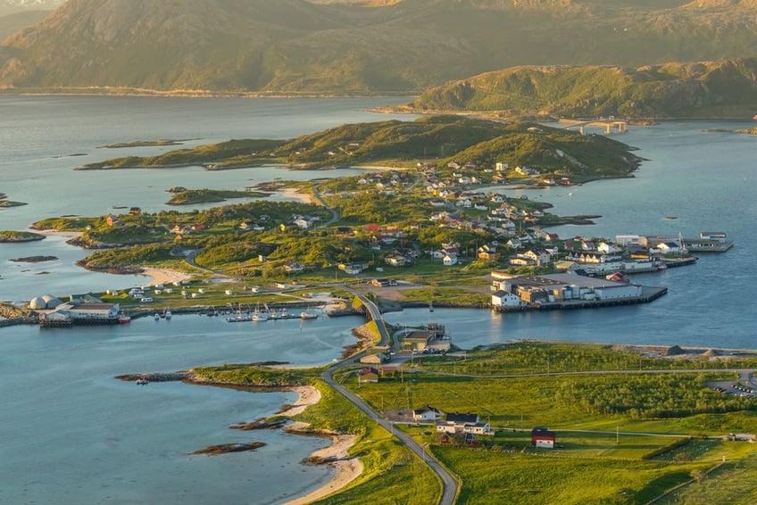 Sommarøy island in northern Norway