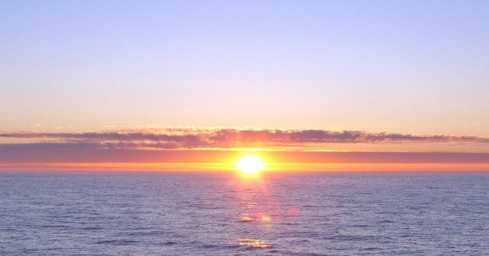 The midnight sun in Norway
