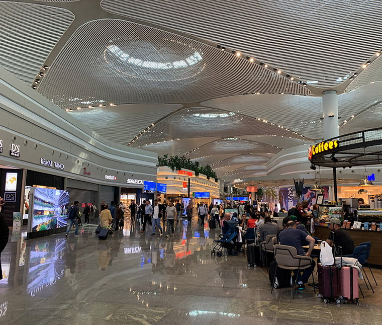 Inside the new Istanbul Airport