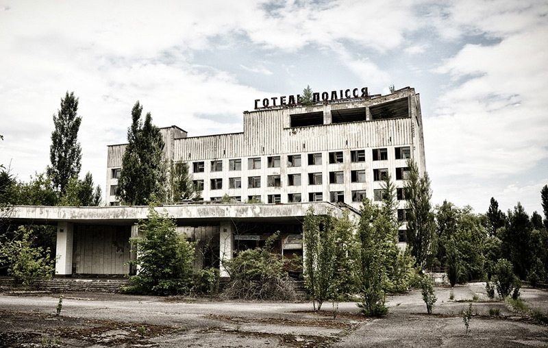 The ghost town of Pripyat, Ukraine