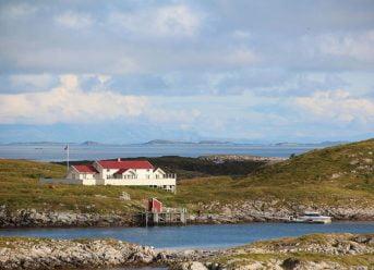 Sakrisøya island in Norway