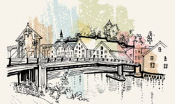 Trondheim line drawing