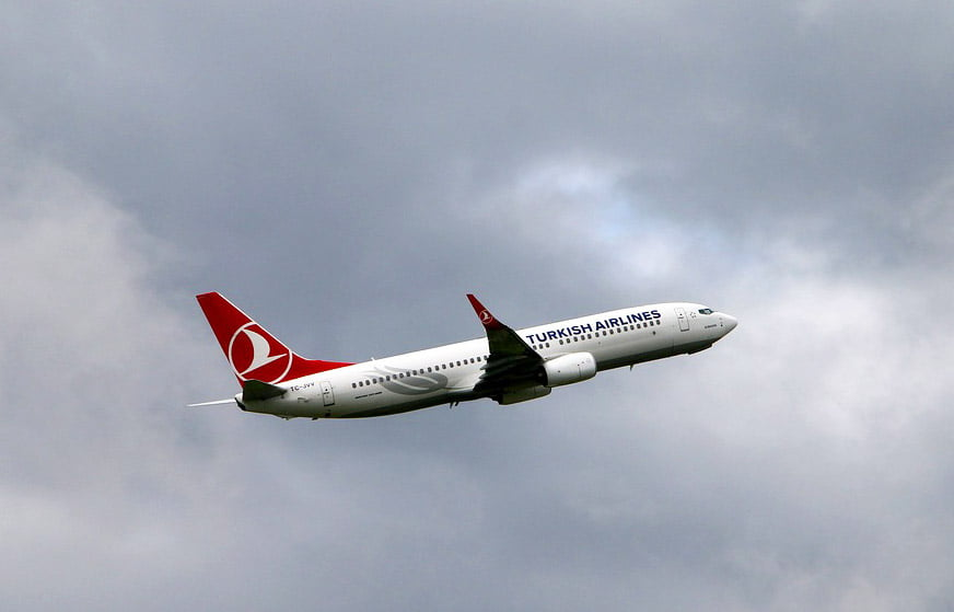 Flying on Turkish Airlines jet