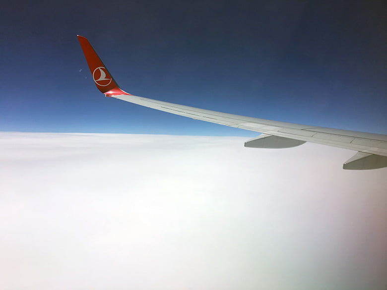 Turkish Airlines from the window seat