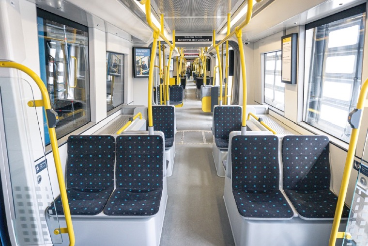 Interior of new Oslo trams