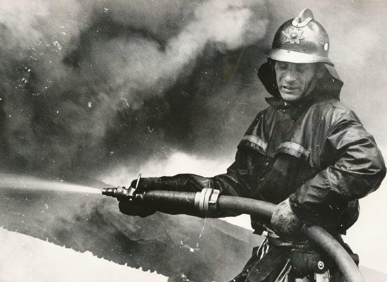 A Norwegian firefighter in Trondheim