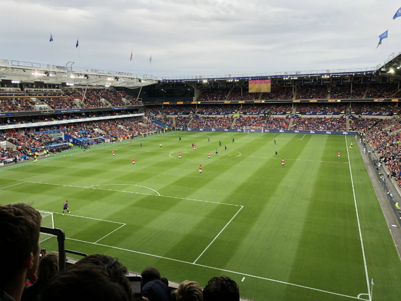 Manchester United playing in Oslo, Norway