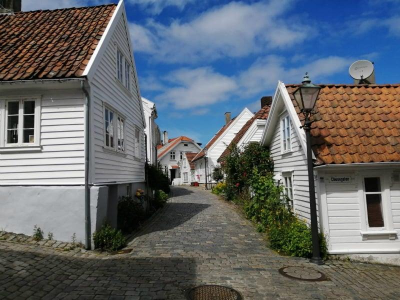 Old Stavanger cobbled streets