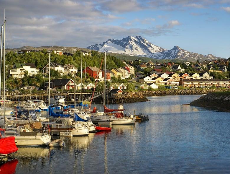 Harbour at Narvik, Norway