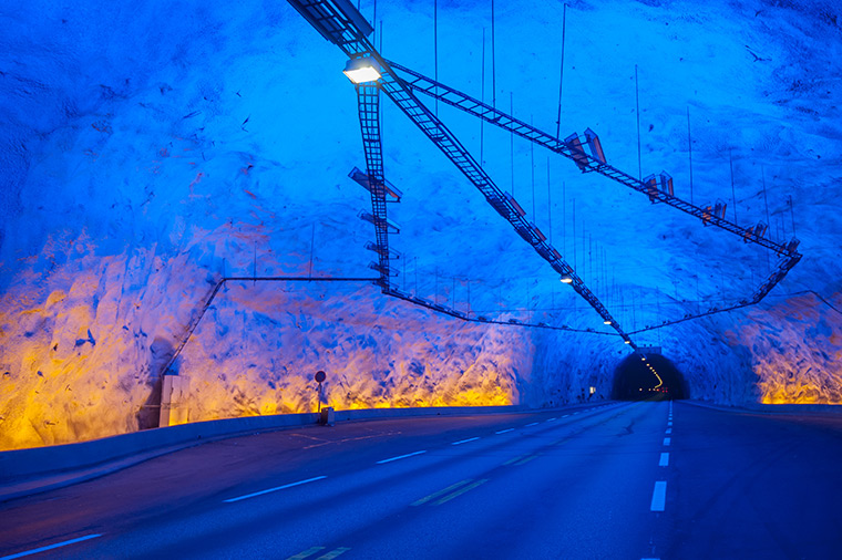 The Lærdal road tunnel in Norway