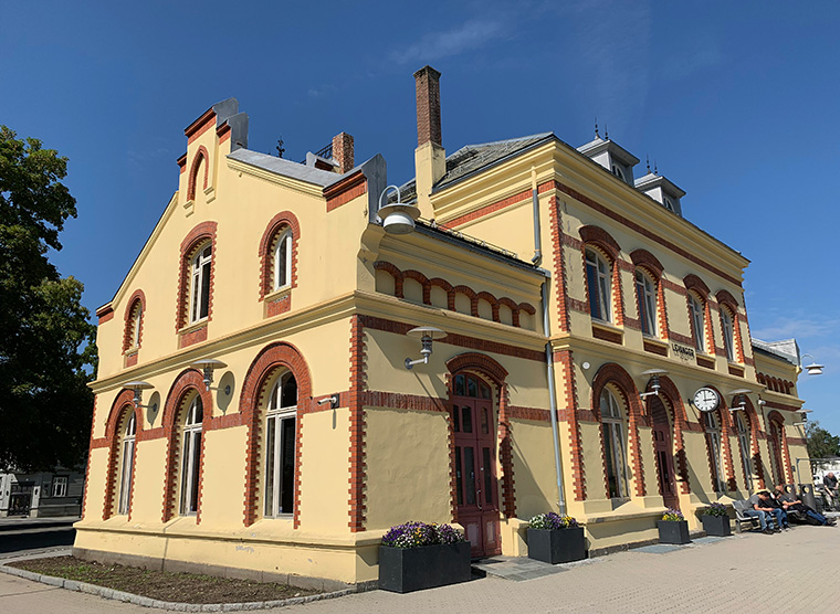 The beautiful Levanger railway station in Norway