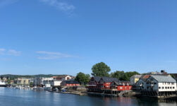 The lovely Levanger waterfront
