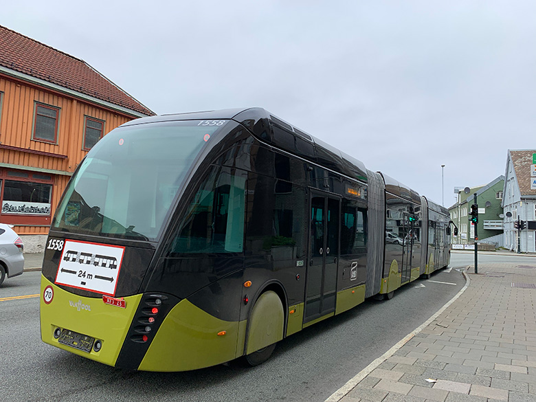 Metro bus test in Trondheim