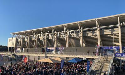 Outside Vålerenga Stadium in Oslo