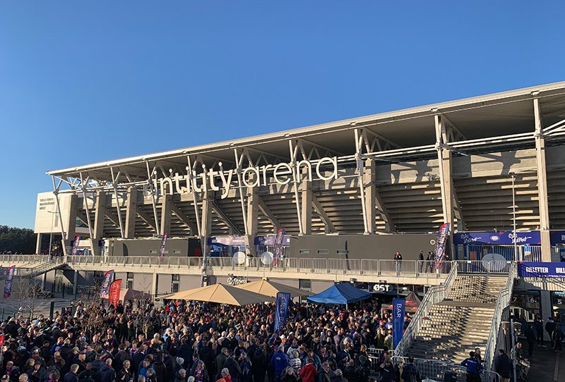 Outside Vålerenga Stadium in Oslo