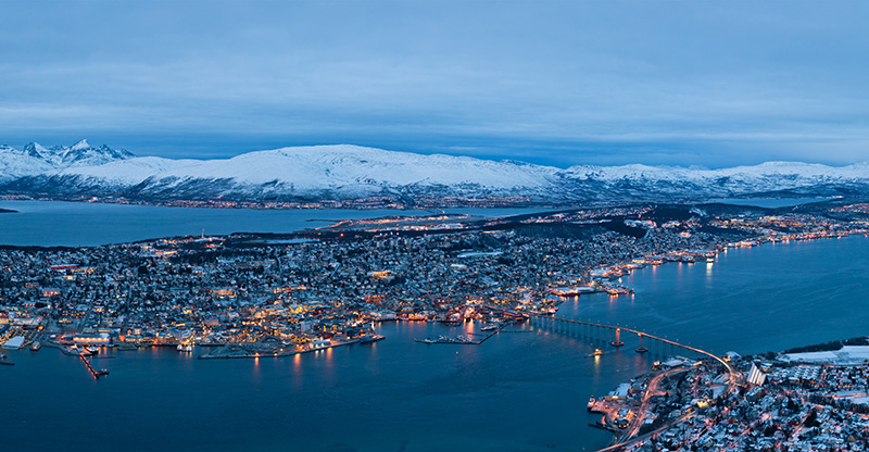 Blue light of Tromsø in the Norwegian winter