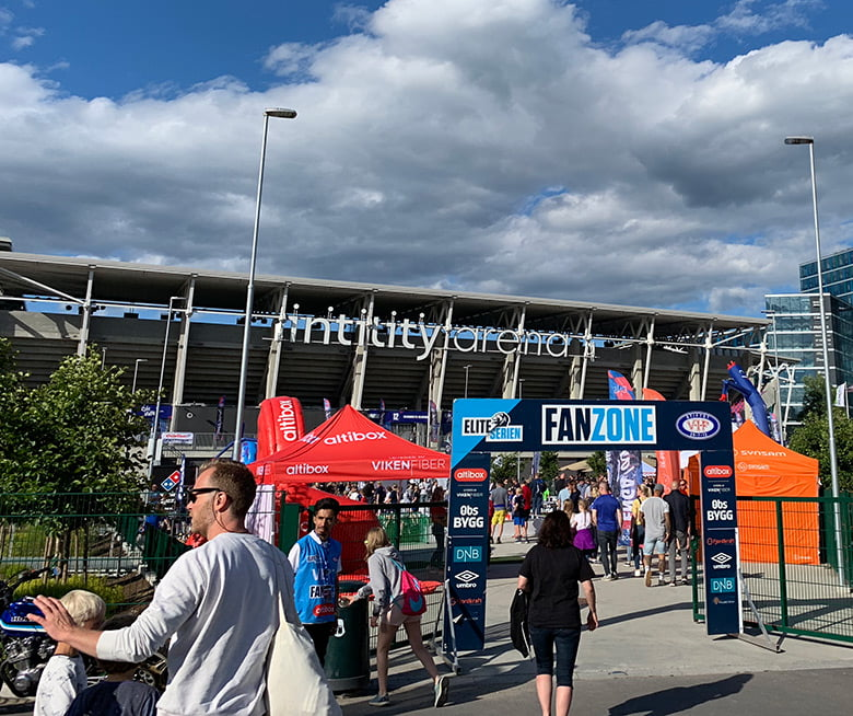 Vålerenga fan zone in Oslo
