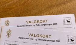 Norwegian voting card