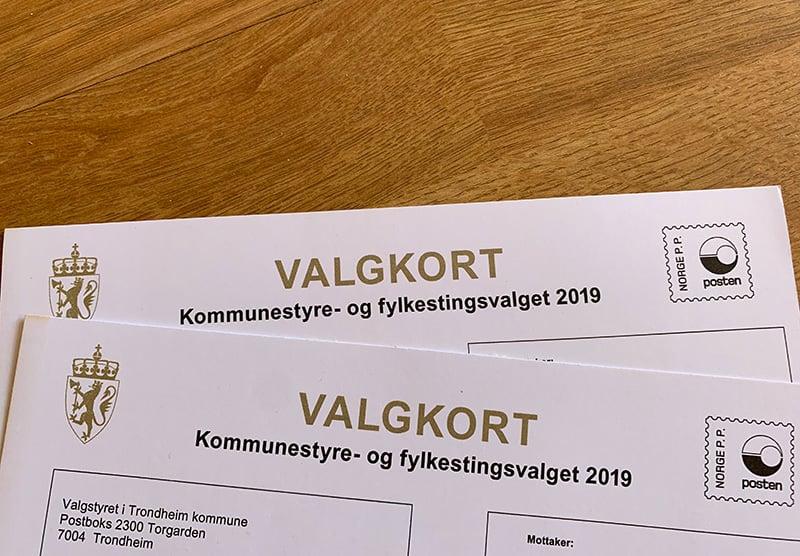 Norwegian voting card