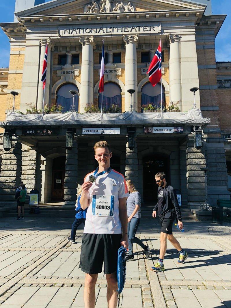 oslo marathon 2018 medal