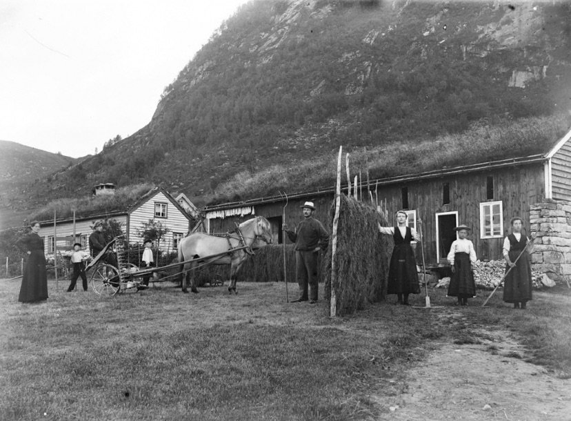 A farm in western Norway, c.1890