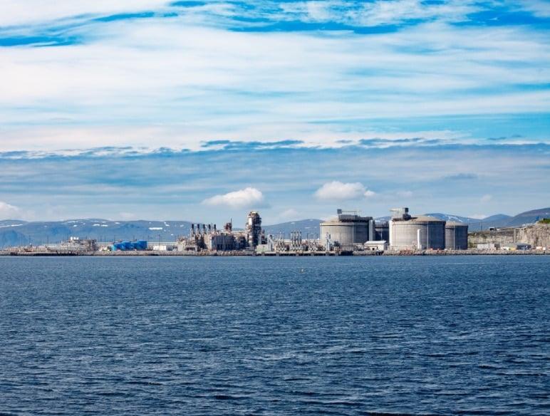 Melkøya LNG plant in Hammerfest
