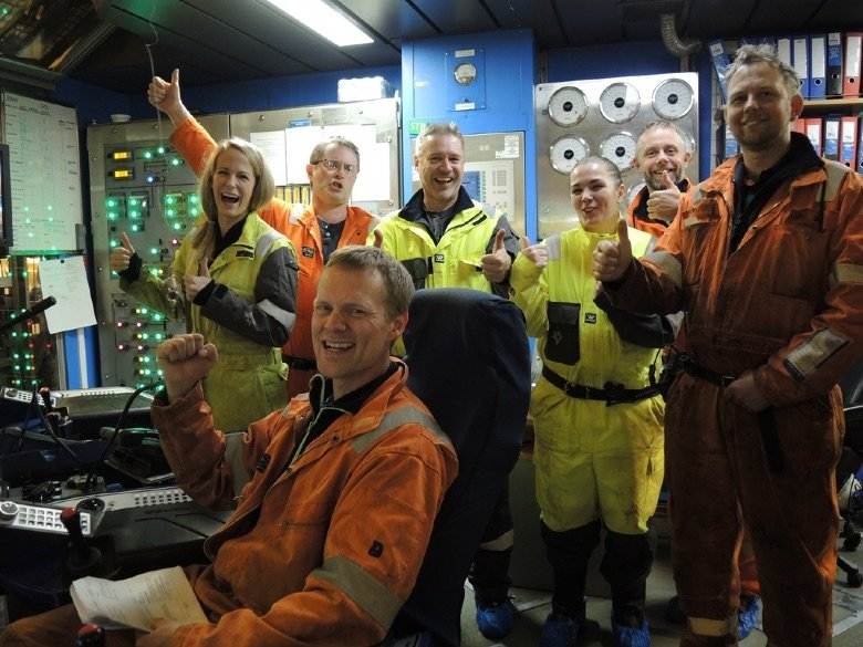 Operators on an oil rig