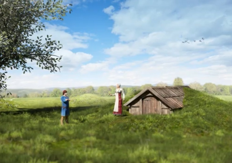 How the Viking mausoleum would have looked according to archaeologists
