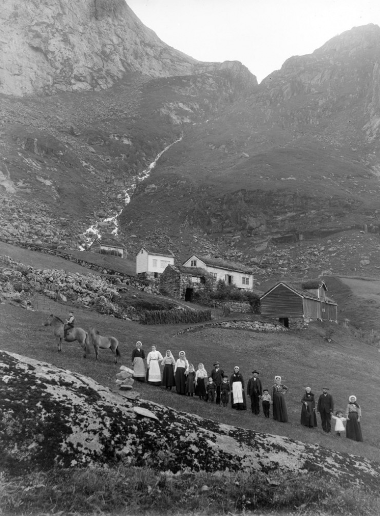 Historic photo from Kløvtveit, Gulen, Norway approximately 1890