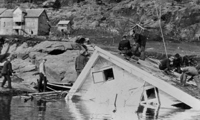 Aftermath of Tafjord landslide and tsunami