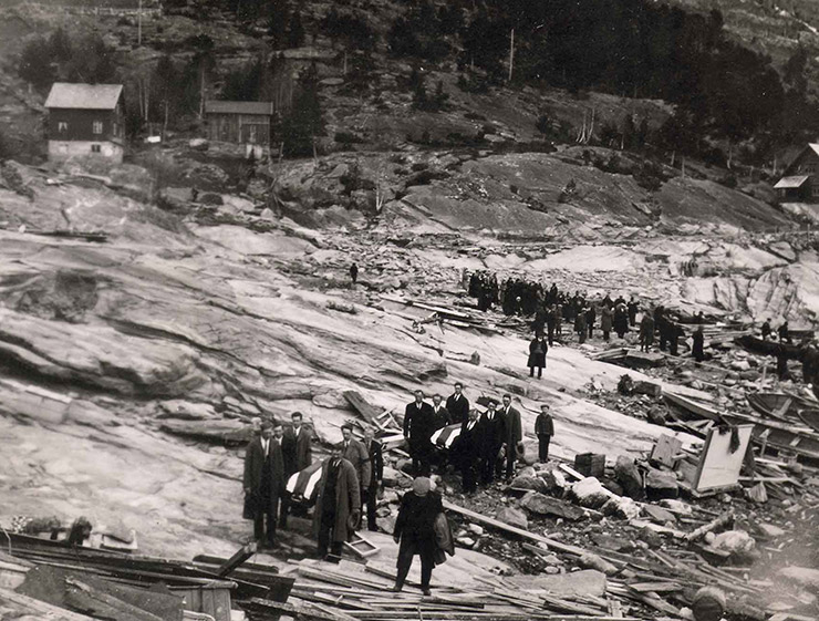 Funerals following the Tafjord disaster