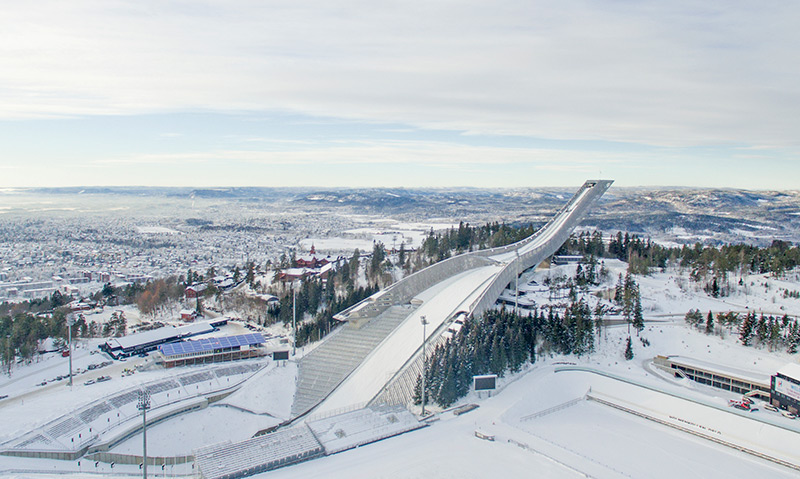 Oslo's Holmenkollen in the winter