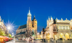Krakow Main Square in Poland