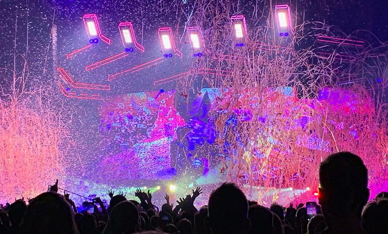 Muse performing at Telenor Arena