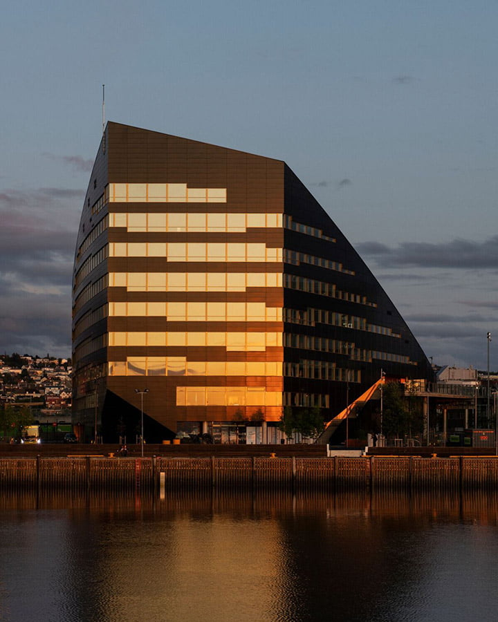 Norway's biggest energy-positive building