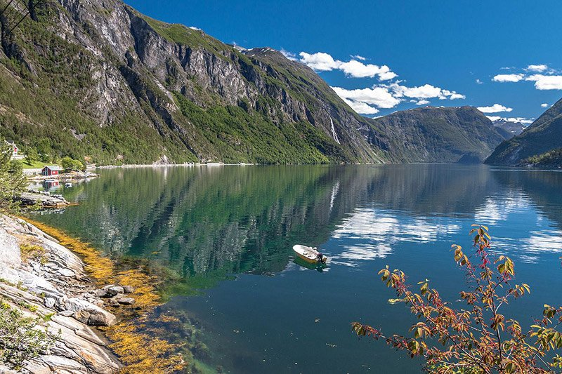 Peaceful Tafjord in western Norway