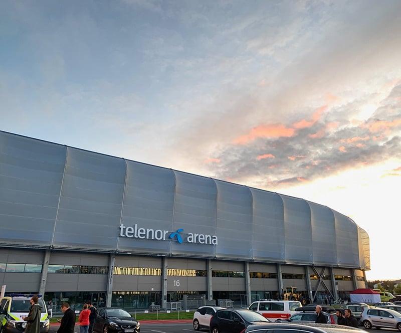 Exterior of the Telenor Arena, Oslo, Norway