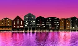 An illustration of Trondheim, Norway