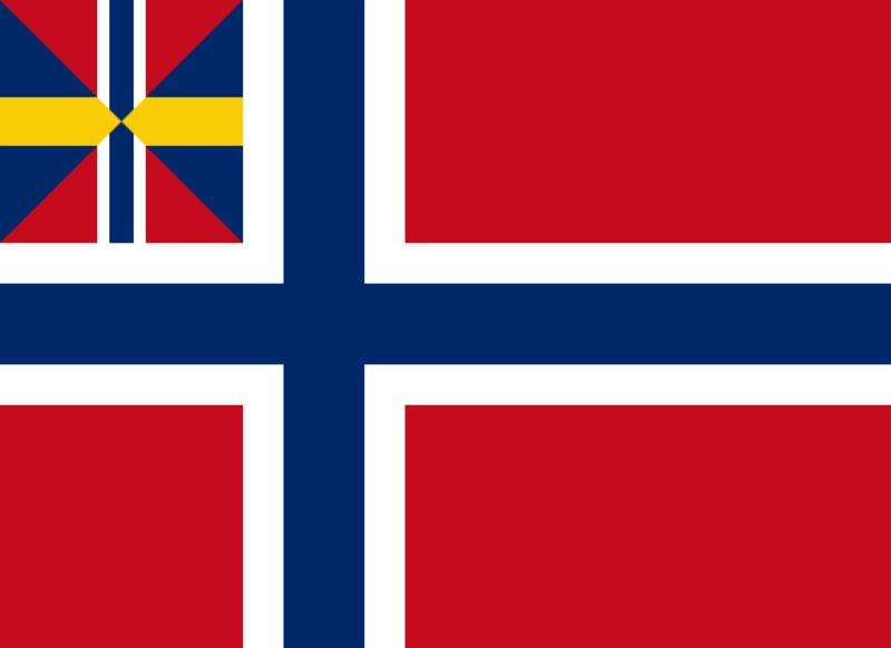 Norway-Sweden merchant flag