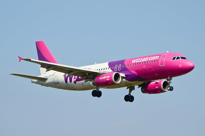 A Wizz Air airplane
