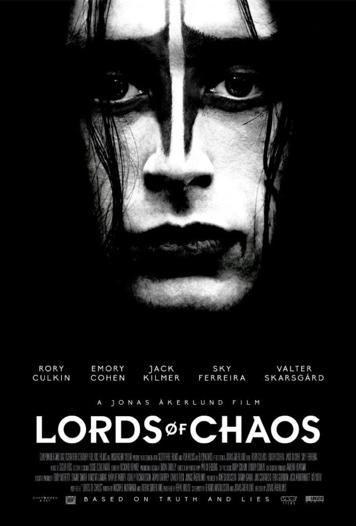 Lords of Chaos theatrical release poster